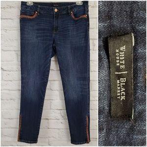 WHBM White House Black Market Skimmer Ankle Jeans